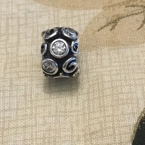 Authentic Pandora Swirl Cz Charm